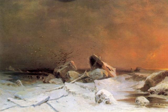 Арсений Мещерский. Ледоход. 1869