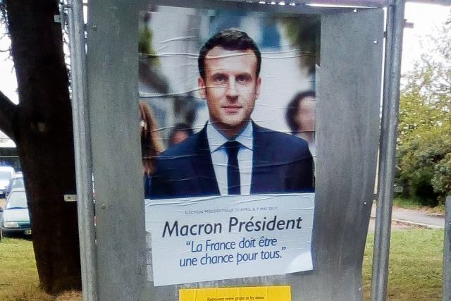 Агитационный плакат, Эммануэль Макрон, Франция