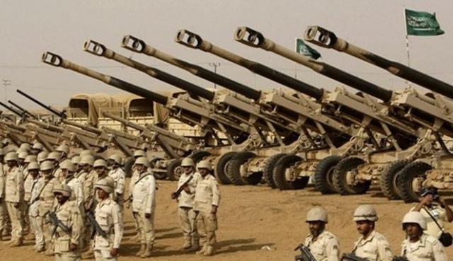 Войска Саудовской Аравии перед вторжением в Йемен