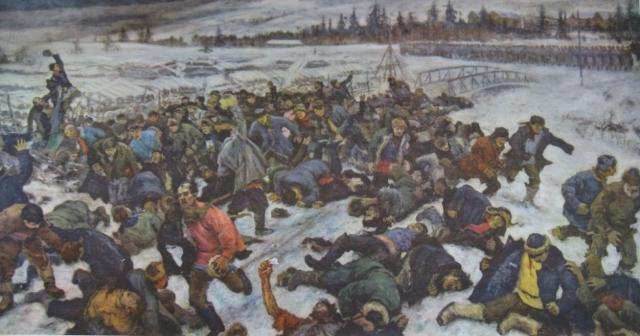 А.В. Моравов. Ленский расстрел. 1930