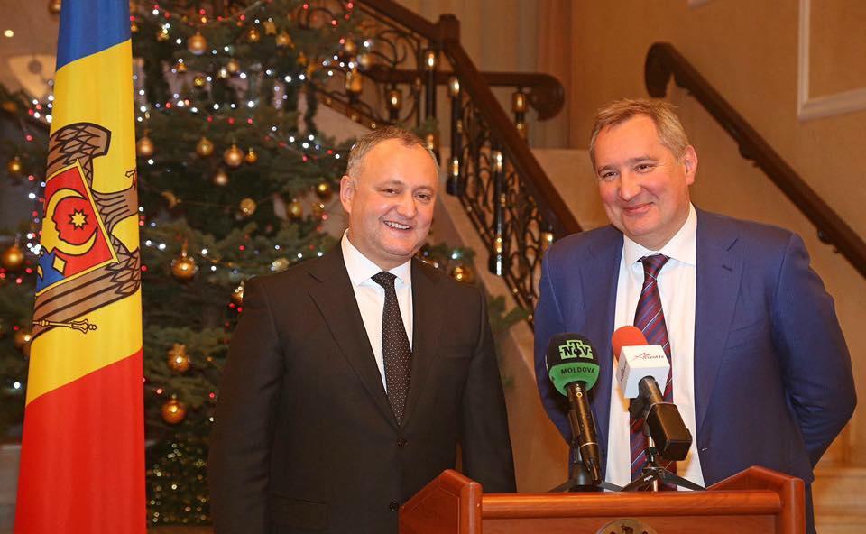 Игорь Додон и Дмитрий Рогозин