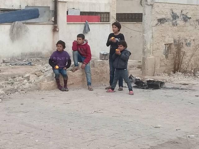 Дети на улице. Дамаск. Сирия