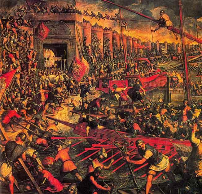 Тинторетто. Взятие Констанинополя крестоносцами