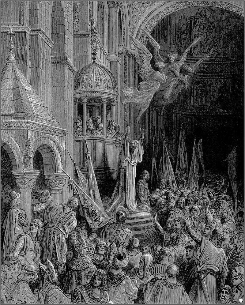 Гюстав Доре Энрико Дандоло благословляет рыцарей. 1892