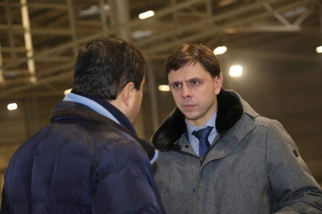 Врио губернатора Андрей Клычков на площадке инвестора