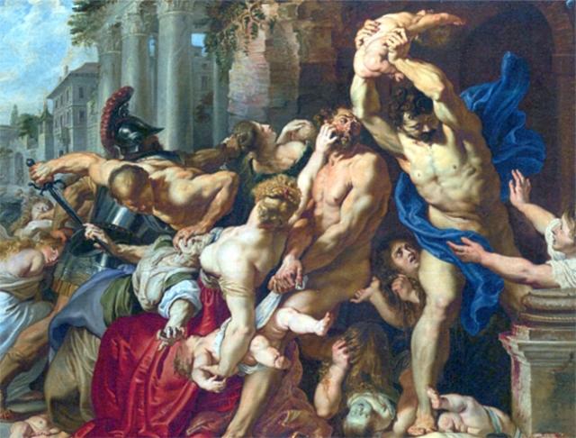 Питер Пауль Рубенс. Избиение младенцев (фрагмент). 1612