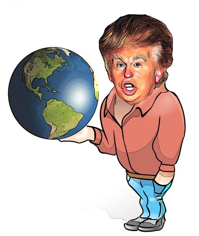 Трамп и глобус