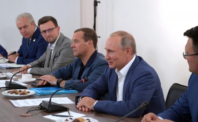 Владимир Путин на встрече с представителями общественности, деятелями науки и культуры Севастополя и Республики Крым. Август 2017 года