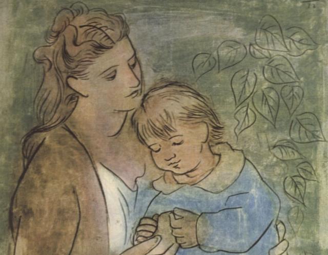 Пабло Пикассо. Мать и дитя. 1922
