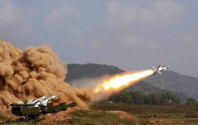 Пуск ракеты средствами ПВО