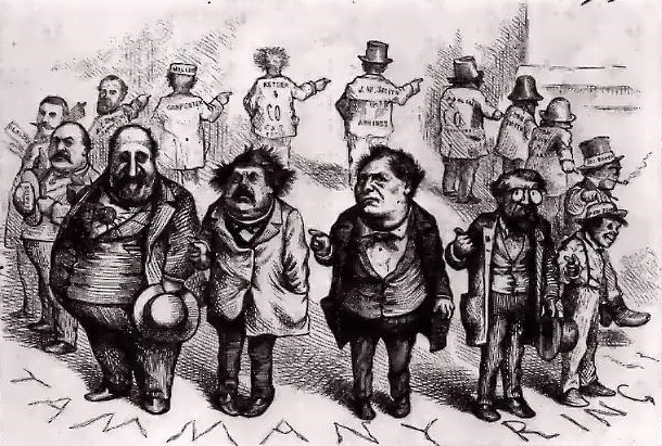 Томас Наст. Круговая порука (карикатура). 1871