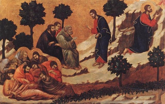 Агония в саду Дуччо ди Буонинсегна (начало 14 века)