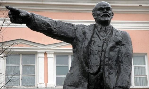Памятник Ленину в Переславле-Залесском до разрушения