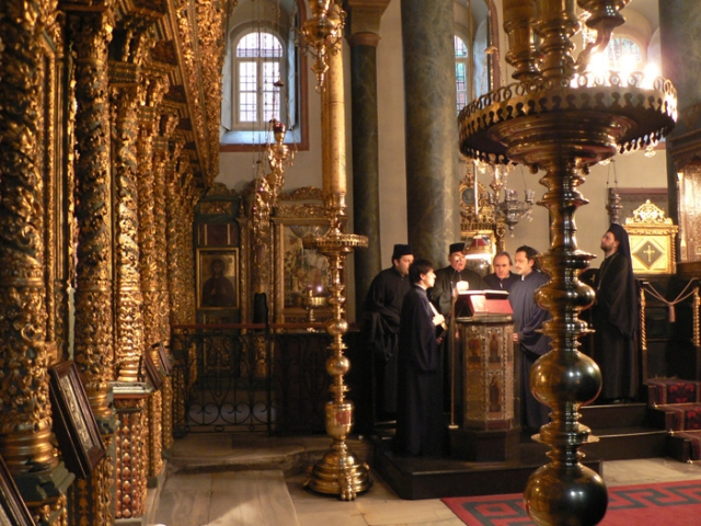 Внутри храма Св. Георгия в Фанаре