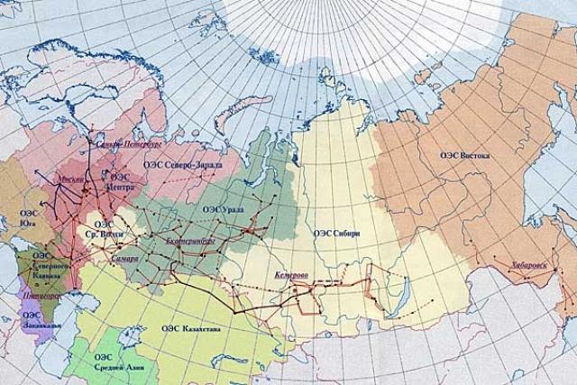 Единая Энергосистема СССР (ЕЭС СССР) на 01.01.1991 года