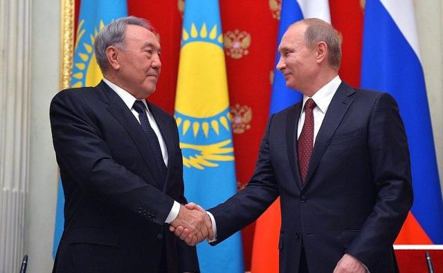 Президенты России и Казахстана