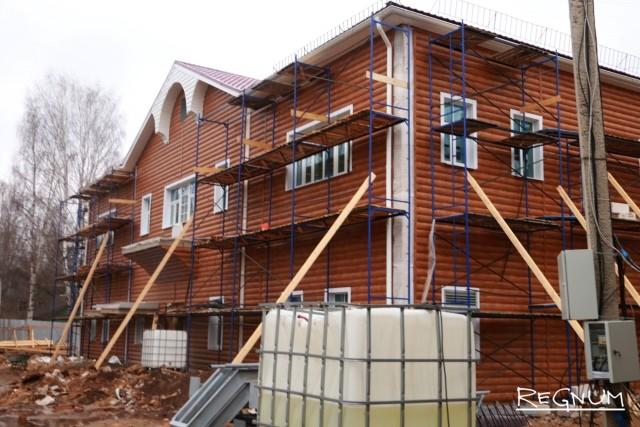 Строящееся здание Вепсского центра фольклора