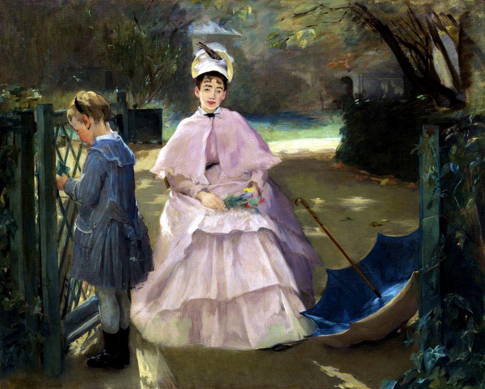 Ева Гонсалес. Няня с ребенком. 1878