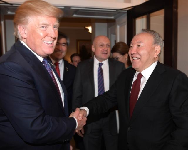Дональд Трамп и Нурсултан Назарбаев