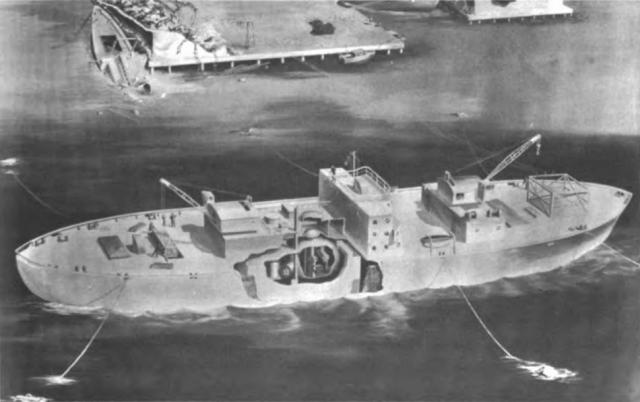 Эскиз плавучей АЭС «Стёрджис».1963