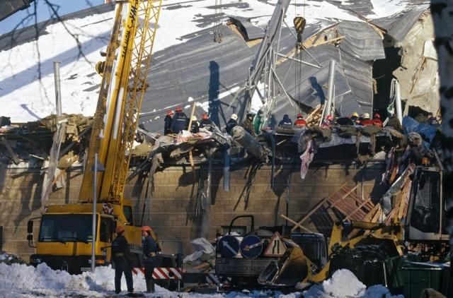 В Рыбинске обрушилась крыша супермаркета