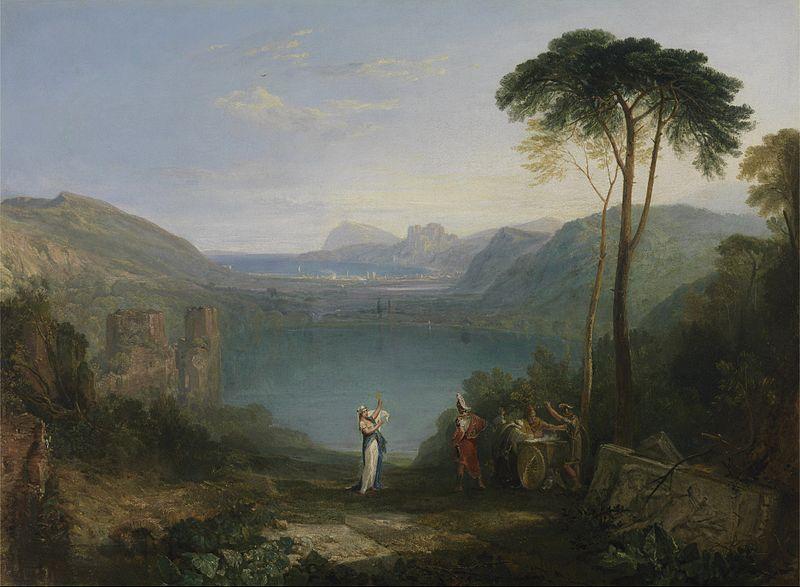 Озеро Аверн. Эней и дух. 1814—1815