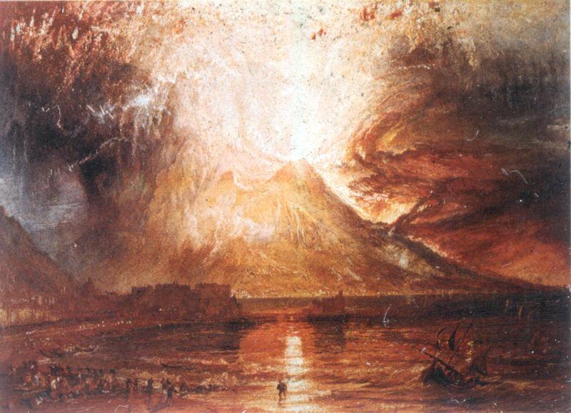 Извержение Везувия. 1817