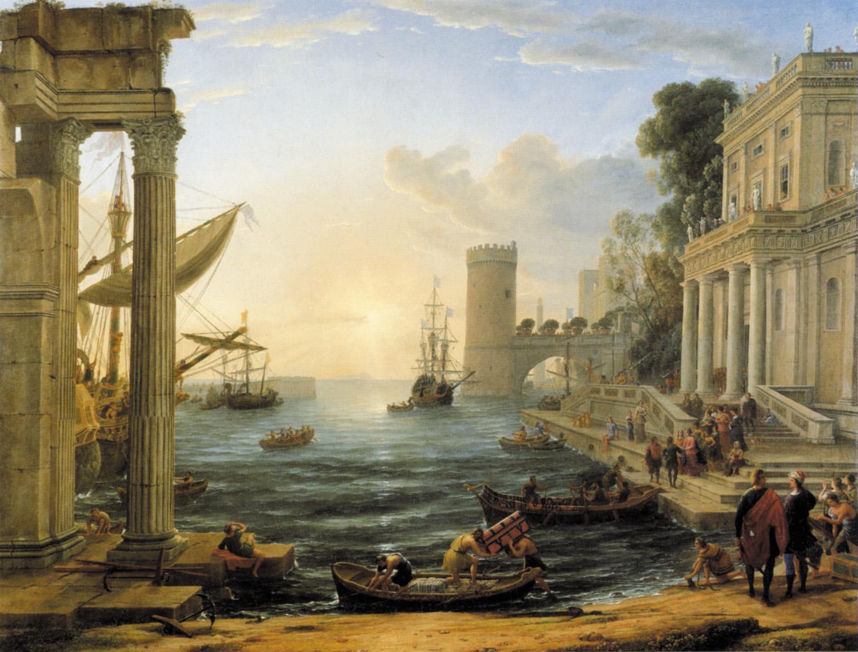 Клод Лорен. Отплытие царицы Савской. 1605