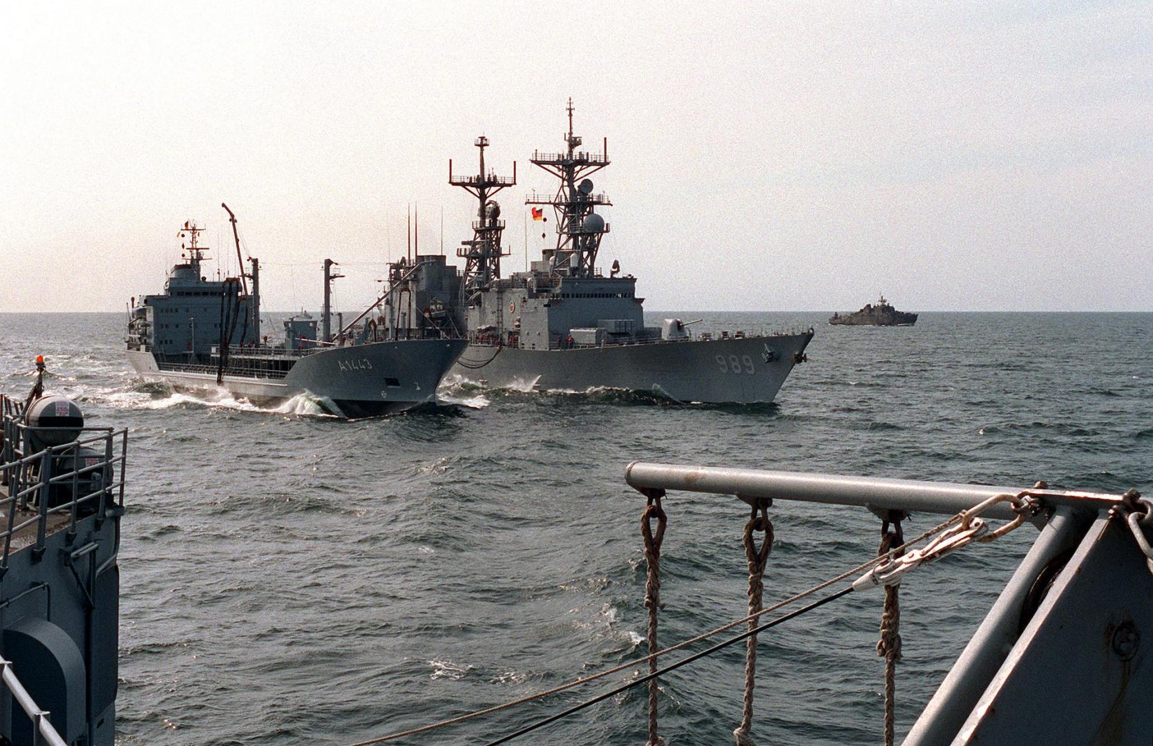 Группировка кораблей ВМС Германии на учениях в Балтийском море