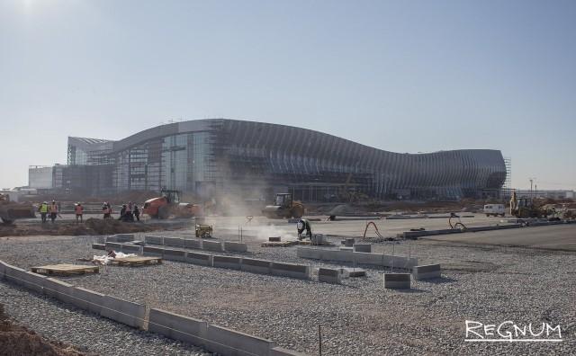 Строительная площадка нового терминала аэропорта «Симферополь»