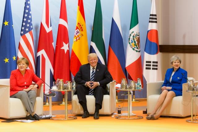 Аннгела Меркель, Дональд Трамп и Тереза Мэй