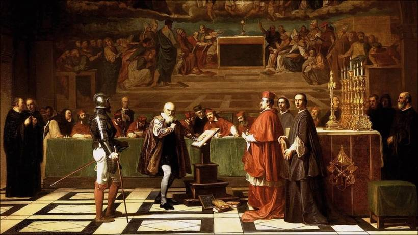 Жозеф-Николя Робер-Флёри. Галилей перед судом инквизиции. 1847