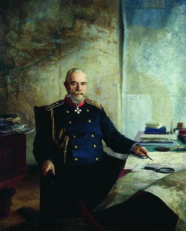 Николай Ярошенко. Портрет Николя Николаевича Обручева. 1898