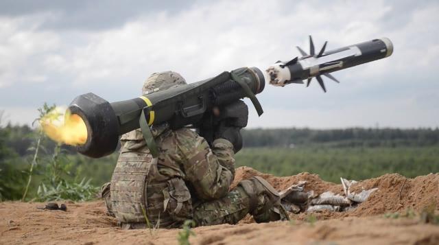 Пуск ракеты FGM-148 Javelin