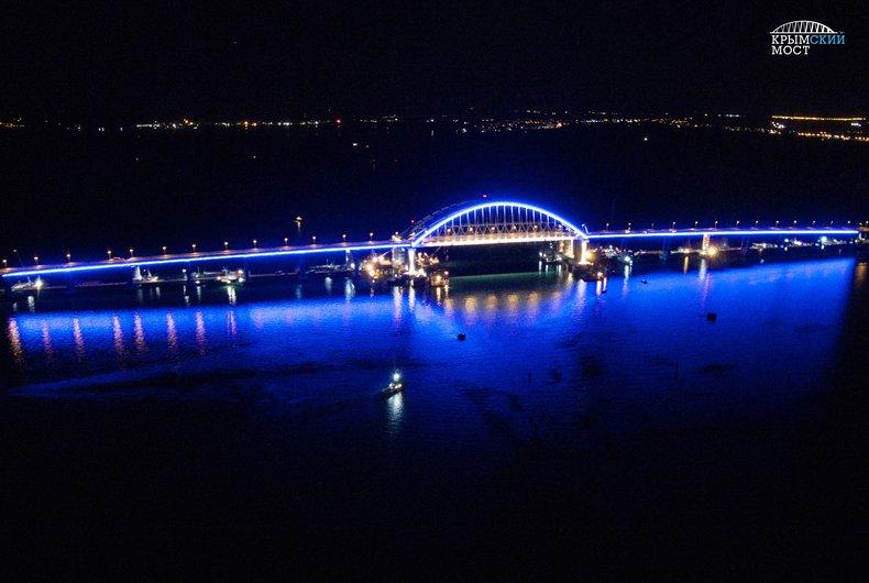 Мост соединяющий Таманский полуостров с Крымом