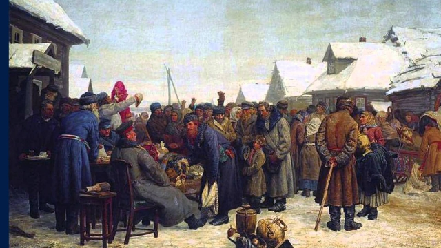 Василий Максимов. Аукцион за недоимки. 1881