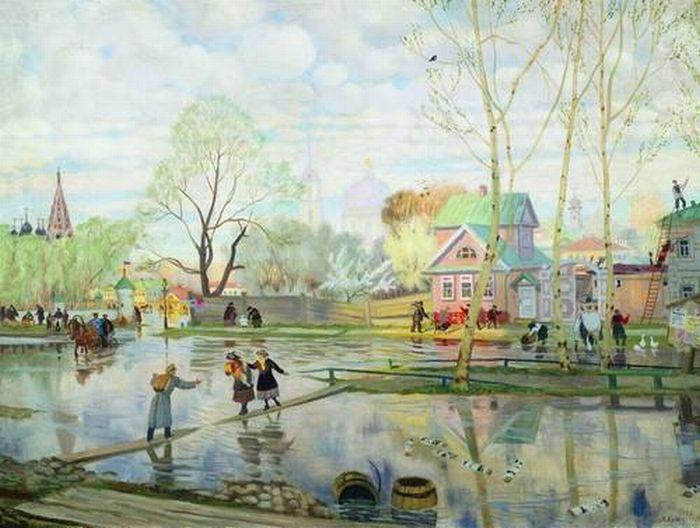 Борис Кустодиев. Весна. 1921