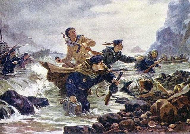 А.И. Плотнов. Десант на Курильских островах. 1948