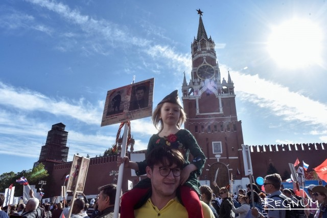 По Москве прокатился грандиозный поток «Бессмертного полка»: фоторепортаж