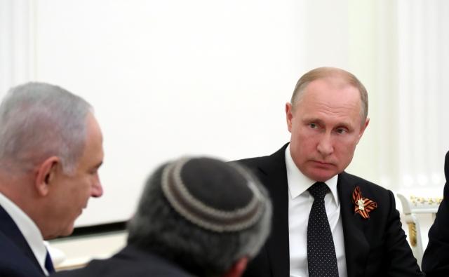 Владимир Путин на переговорах с Биньямином Нетаньяху. Москва, 9 мая 2018 года