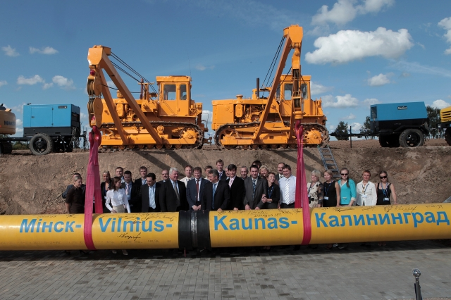 Торжественная церемония ввода в эксплуатацию второй нитки газопровода «Минск — Вильнюс — Каунас — Калининград», 9 сентября 2009 года
