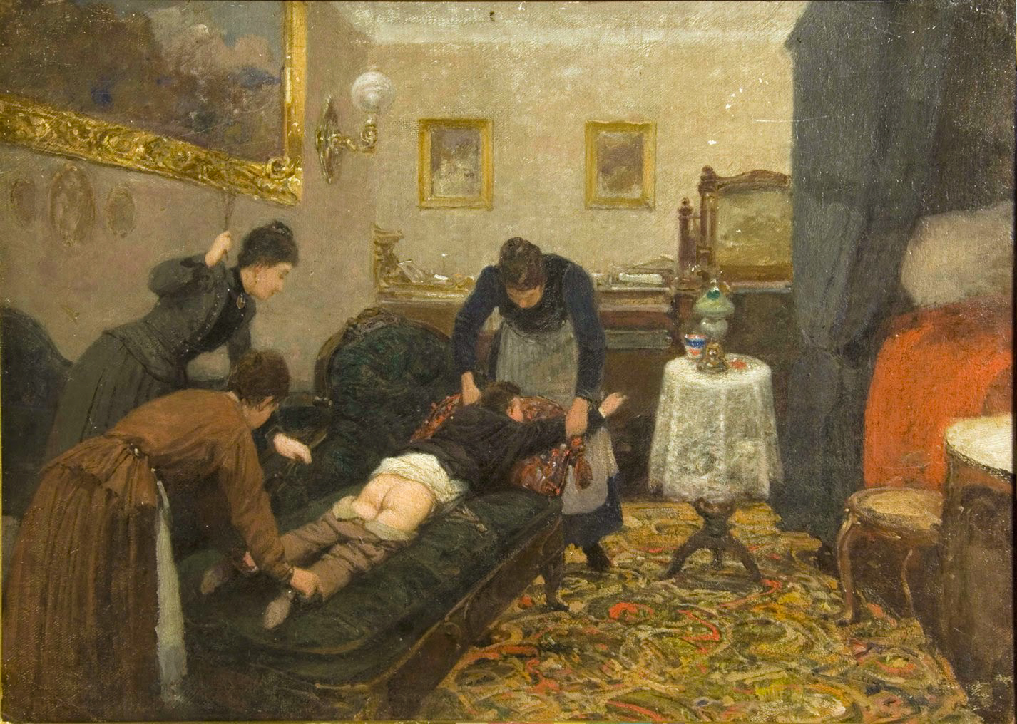 Павел Ковалевский. Порка. 1880