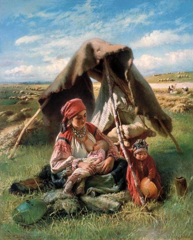 Константин Маковский. Жница. 1871