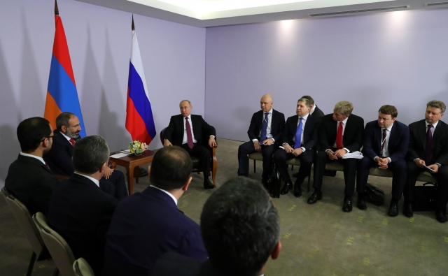 Встреча Владимира Путина с Николом Пашиняном