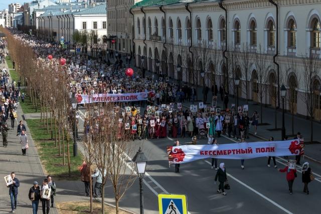 Шествие бессмертного полка в Казани