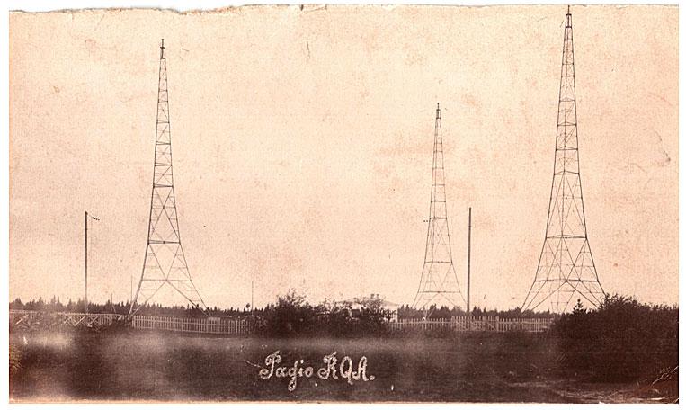Построенная в 1913 году в поселке Дамба в 14 километрах от Архангельска самая мощная на Севере радиостанция