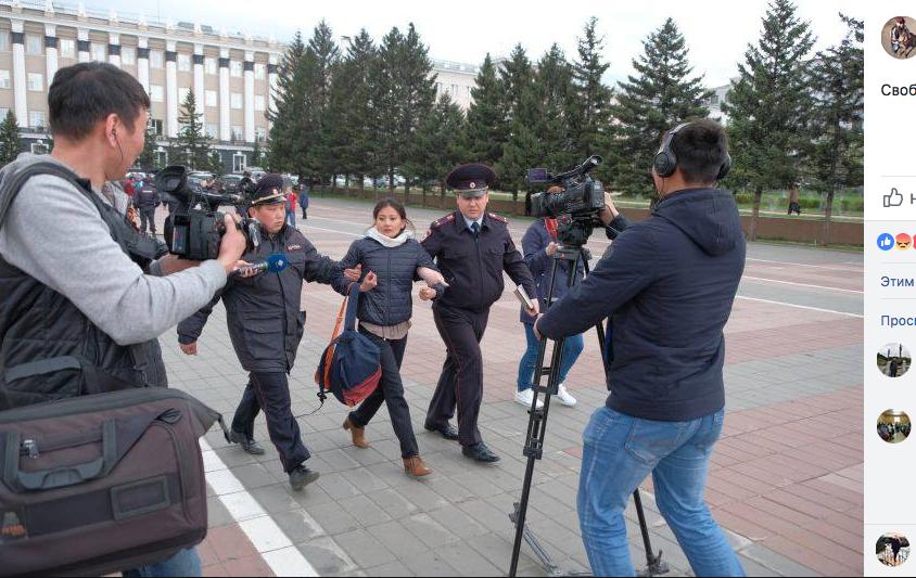 Задержание Ольги Байшниковой – известной защитницы Байкала