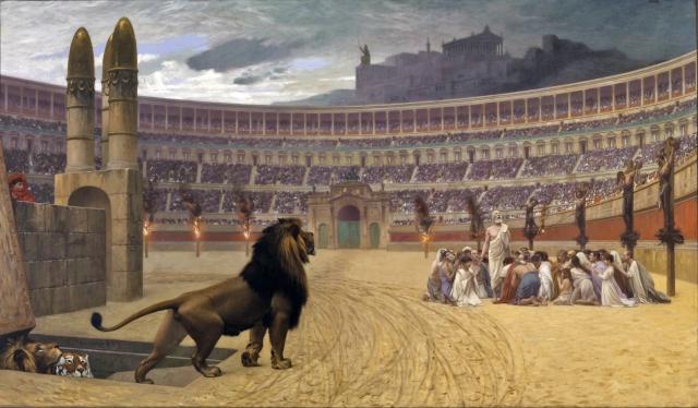 Жан-Леон Жером. Последняя молитва христианских мучеников. 1883
