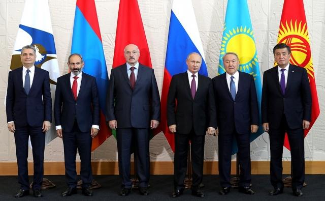 Участники заседания Высшего Евразийского экономического совета