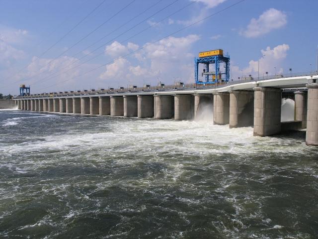 Плотина Каховской ГЭС. Новая Каховка. Украина